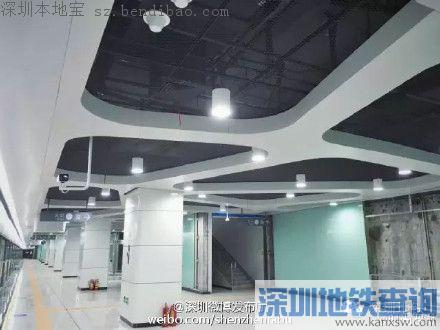深圳地铁7号线洪湖站实景图曝光 吃喝玩乐最牛线