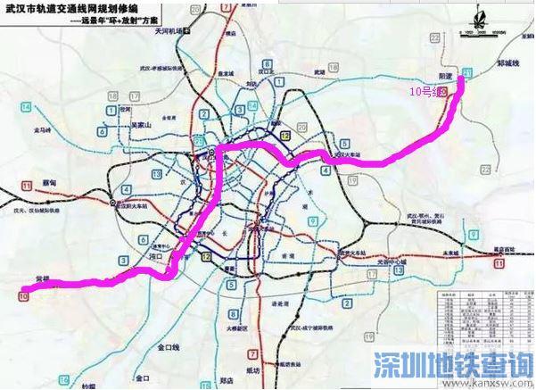 武汉地铁10号线线路图 10号线一期站点设置详情一览