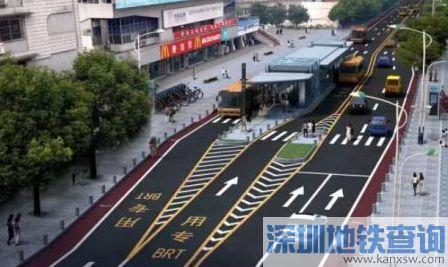 武汉公交雄楚大街BRT即将开通 下月有望完成廊道刷黑图片