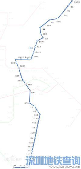 重庆地铁轻轨3号线北延伸段10日起进行不载客试运行 试行3个月图片