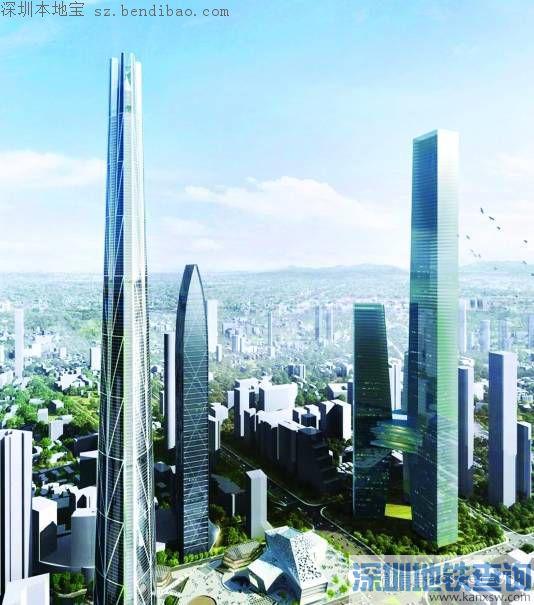 未来深圳第一高楼将高达739米 或取名为H700深圳塔