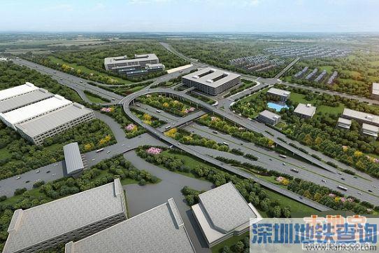 华为立交F匝道开工 将建梅观高速首个掉头通道