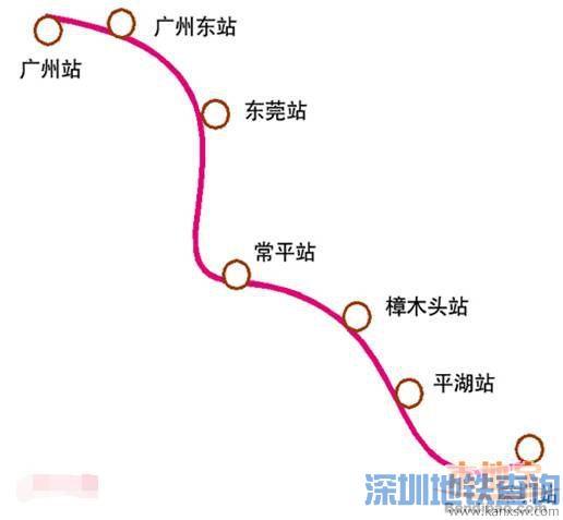 平湖火车站开通 从平湖站坐车可到达6个站