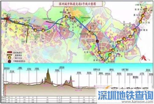 深圳地铁6号线什么时候开通 深圳地铁6号线最新线路图