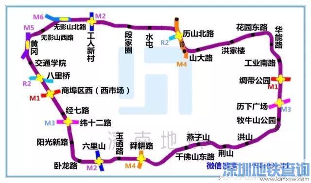 济南最全最新地铁线路图