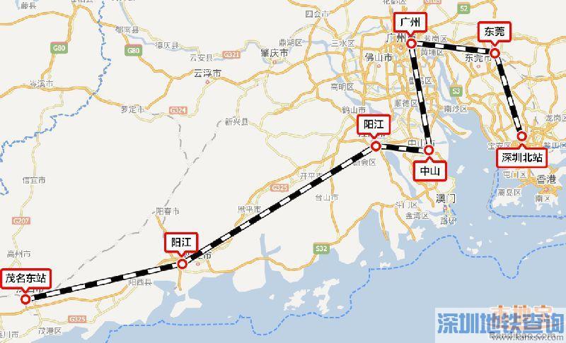 深茂铁路阳江段铺轨即将开始 最高时速250公里