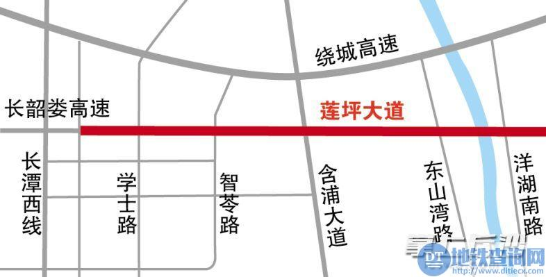 莲坪大道线路走向地图 莲坪大道规划图沿途经过哪些区域和地方?