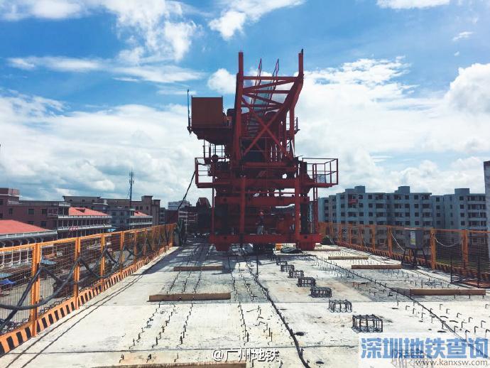广州地铁14号线2017年1月最新进展进度:土建完成62%