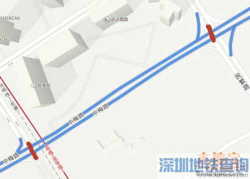 深圳龙华中梅路10日起将封闭至春节