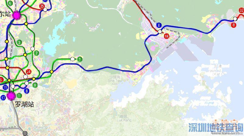 盐田力挺8号线一期延至梅沙片区 目前正进行协调