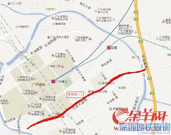 广州南站告急!汉溪大道每日大拥堵 最堵时间为早上6时左右
