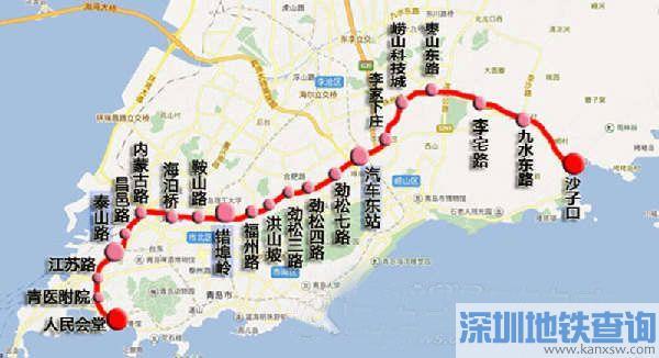 青岛地铁4号线站点有哪些?青岛地铁4号线车站分布位置一览图