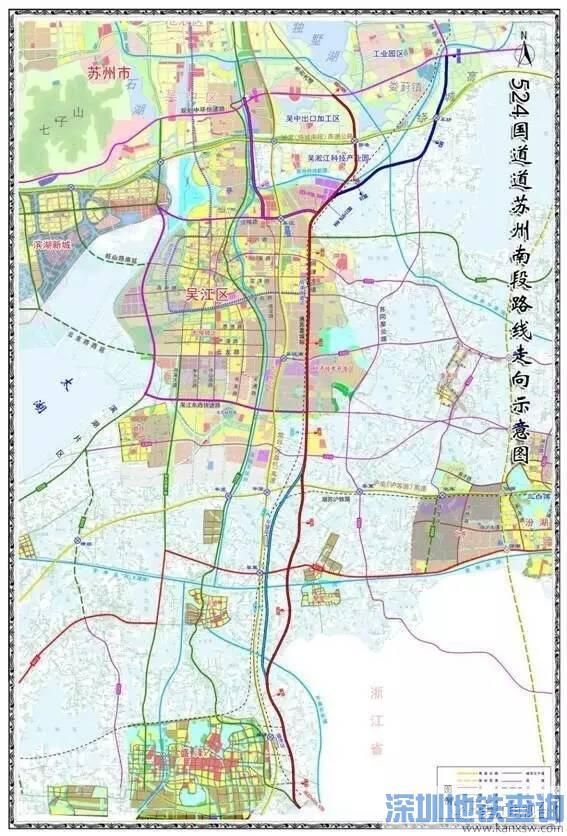 524国道苏州南段最新线路走向图