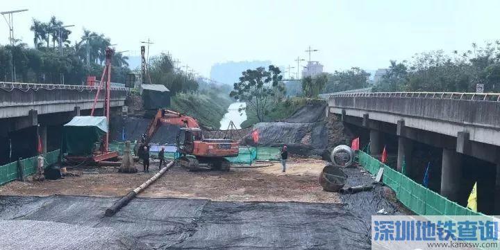 佛山高明有轨电车工程最新进展:区间桥梁已经动工建设