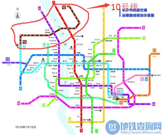 长沙地铁10号线最新规划线路图、站点、开通时间