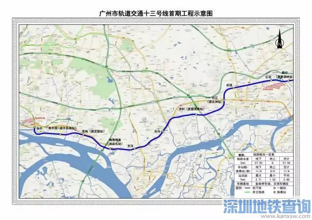 广州地铁13号线2017年11月最新进展:进入运营调试阶段