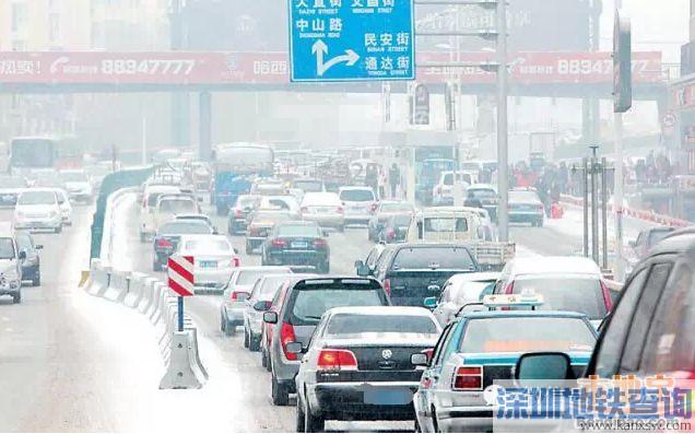 2017哈尔滨下雪天影响较大路段一览