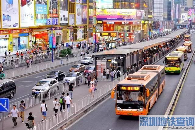 广州14条BRT线路2017年11月4日13时起将增天河体育中心附近运力图片