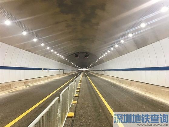 红棉路信息学院至坳背段求水岭隧道正式通车 横岗坳背到龙岗中心城仅需3分钟
