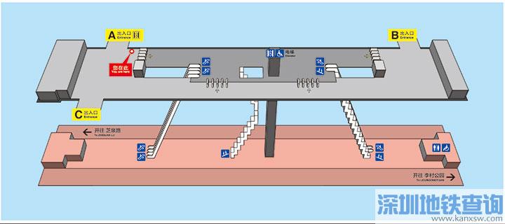 青岛地铁2号线高雄路站各出入口位置附近公交站点、公交线路、换乘攻略一览