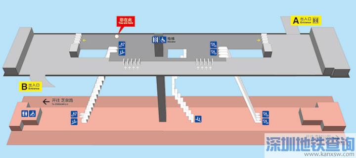 青岛地铁2号线华楼山路站各出入口位置附近公交站点、公交线路、换乘攻略一览
