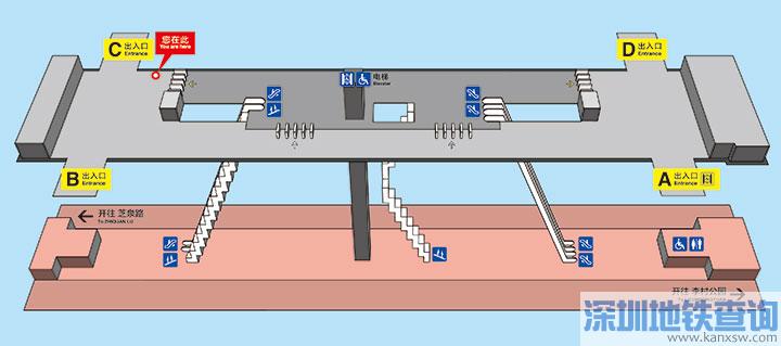 青岛地铁2号线枣山路站各出入口位置附近公交站点、公交线路、换乘攻略一览