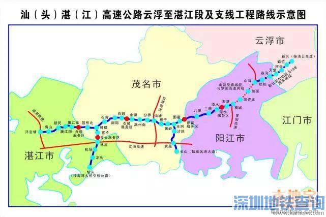 广东云湛一期、揭惠一期等6条高速预计12月28日通车 往返粤西再增一条快速通道