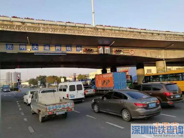 深圳光明新区首个全待行路口试运行 车辆通行能力得到提升