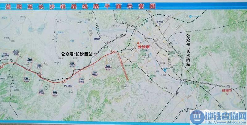 常德经益阳至长沙铁路线路平面示意图1-常益长高铁12月26日正式开工图片
