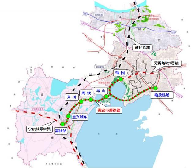 无锡地铁S2号线最新进展 附S2号线规划方案 线路图图片