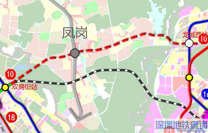 深圳地铁10号线东莞段详细规划线路走向示意图出炉 将设3个车站图片