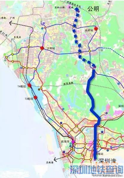 深圳地铁13号线线路规划走向图一览 附最新线路图图片