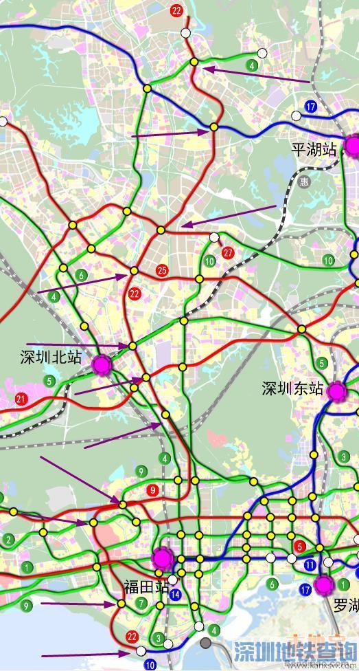 深圳地铁22号线线路图 站点 换乘 开工时间一览图片