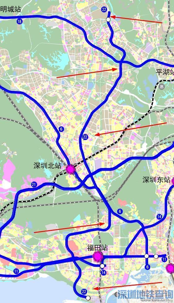 深圳地铁22号线线路走向 线路图一览 梅林关又多了条地铁图片