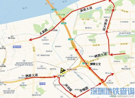 南京栖霞大桥2月25日起半幅施工 工期计划4个月附绕行建议