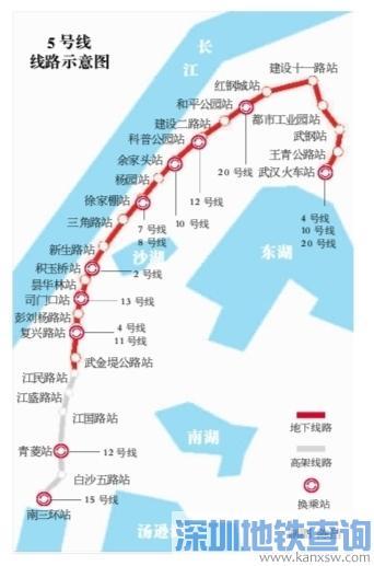 武汉地铁5号线什么时间正式开通?预计2020年底