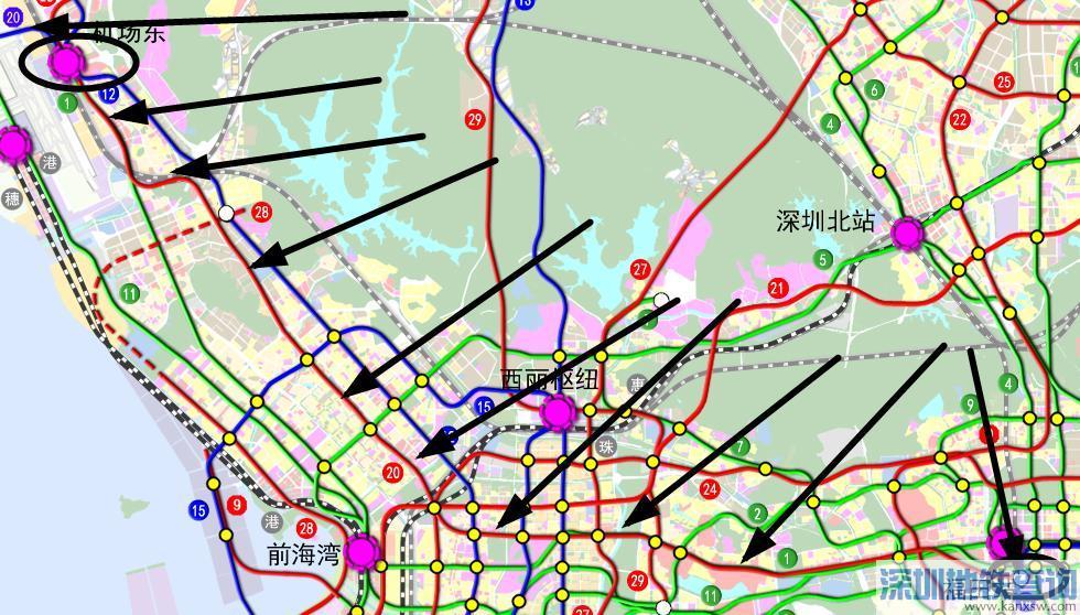 深圳地铁20号线南延线最新规划线路图 站点 最新进展