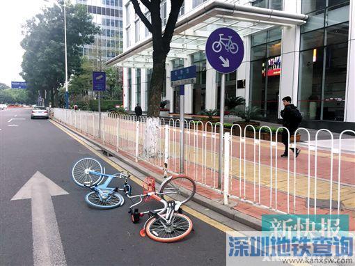 广州共享单车被扔出马路 摩拜:希望用户共享单车也共享文明