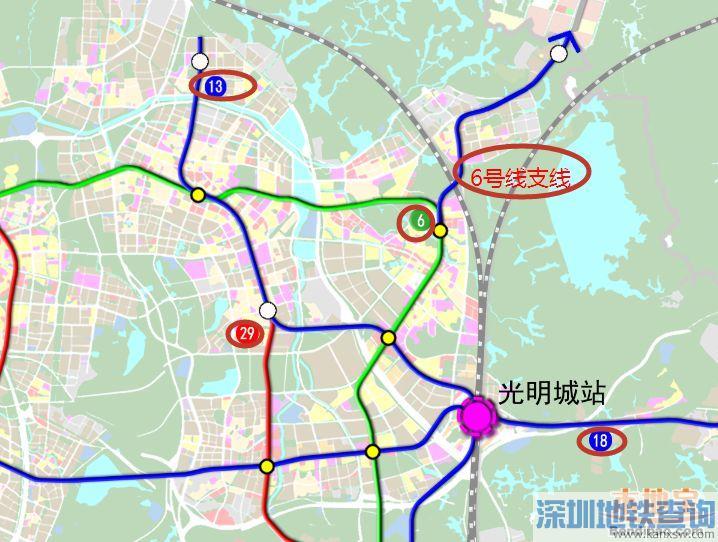 深圳光明新区在建、待建、规划地铁线路一览