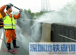 """2017广州将全面提升高快速路环境 31条高快速路""""洗白白"""""""