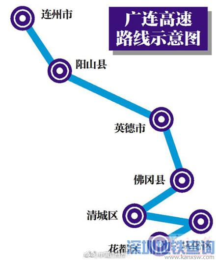 广连高速公路计划2017年10月前开工 广州至连州高速规划图一览