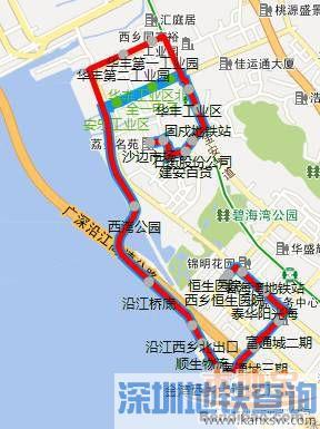 深圳西部公交18条线路调整 附具体停靠站点、服务时间变动