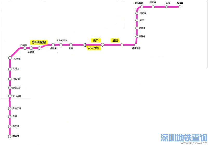 苏州地铁9号线2017最新规划线路图