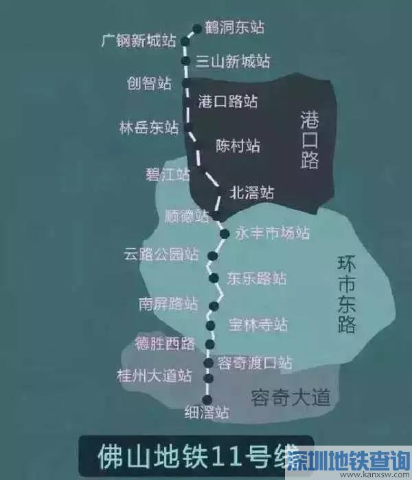 佛山地铁11号线开建时间 将与广州地铁11号线无缝对接