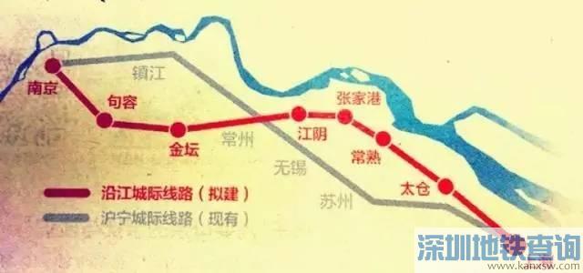 苏南沿江铁路最新进展:已开始环评