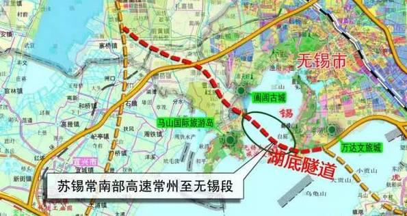 苏锡常南部高速常州至无锡段最新线路规划详情