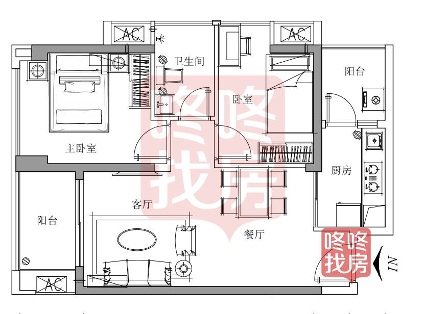 宝安华联城市全景花园公租房6月7日选房 最大68.21平米(附最全户型图)