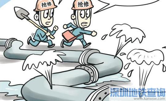 2017广州南洲北路抢修水管将封闭两车道 7月底完工