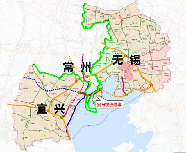 无锡宜马快速通道线路规划图