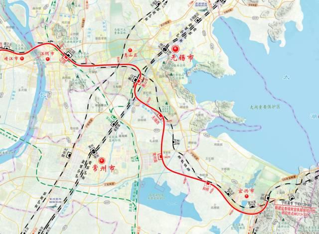 泰兴高铁规划图_盐泰锡常宜铁路最新线路规划图 - 地铁查询网